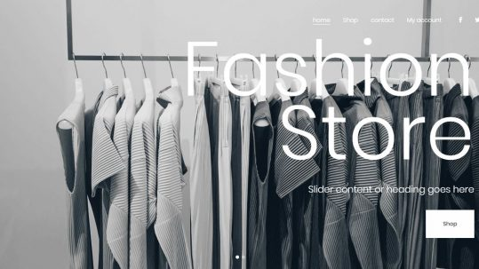Fashion Store Wordpress Template