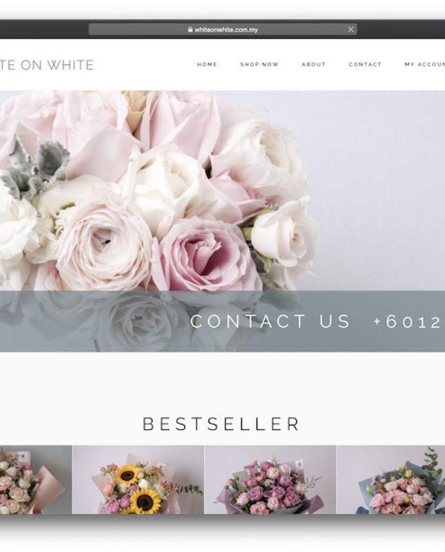 white on white flower