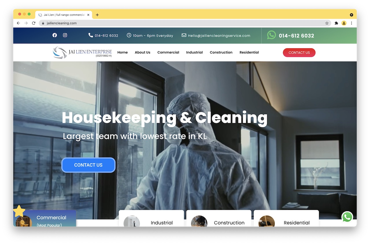 Jai Lien cleaning service